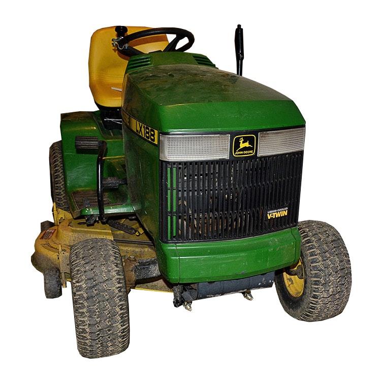 "John Deere LX188 Riding Lawn Mower with Piranha 44"" Mulching Deck"