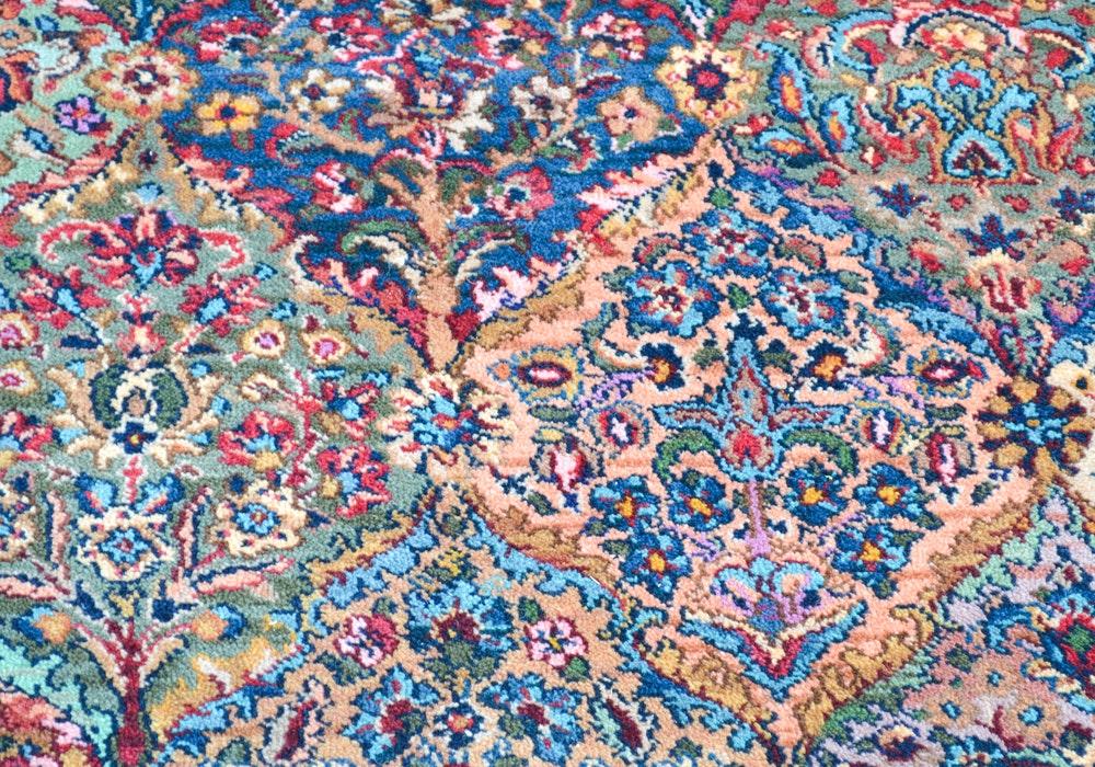 Karastan Quot Multicolor Panel Kirman Quot Area Rug Ebth