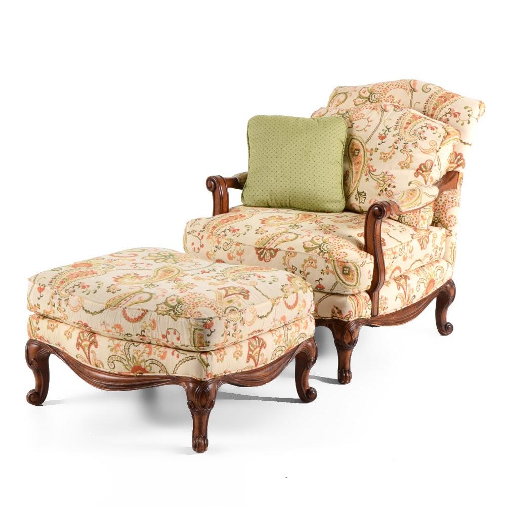 Henredon Armchair and Footstool