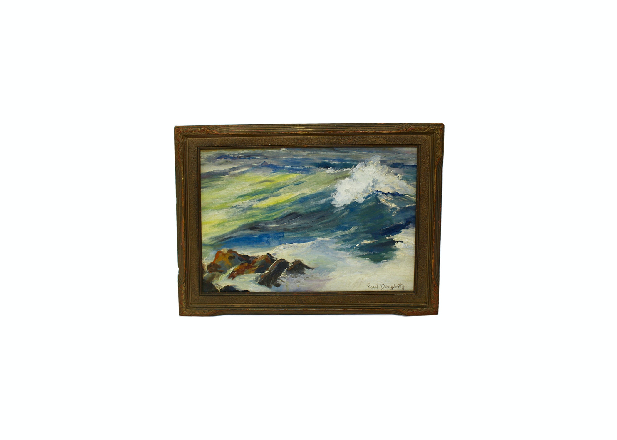 Wave Crest Oil Painting by Paul Dougherty