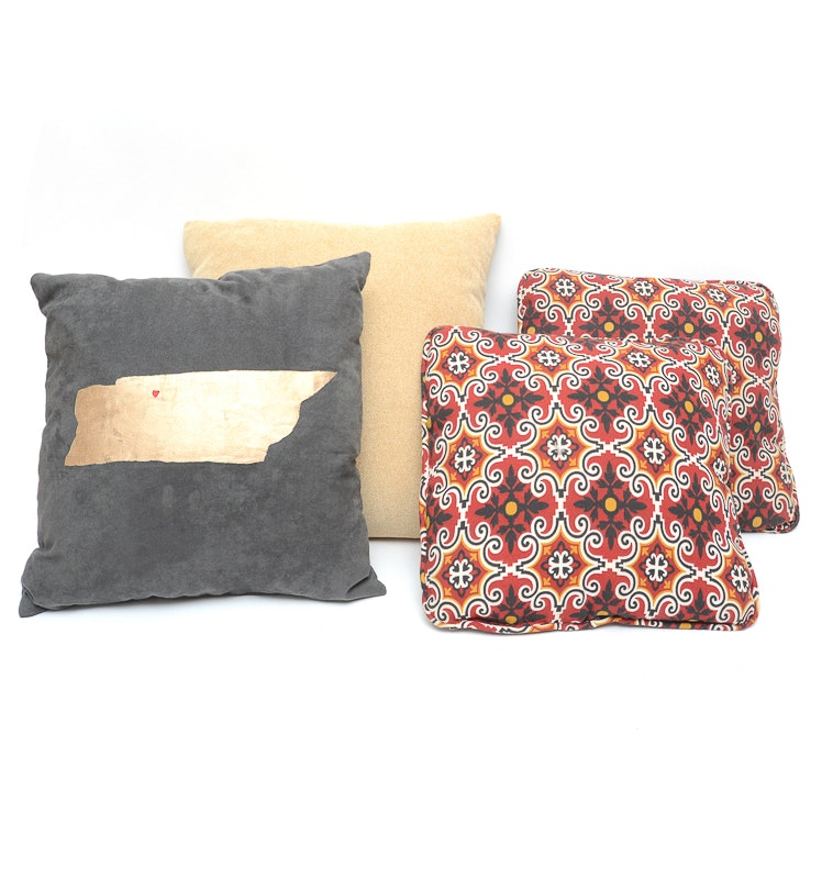 Collection of Decorative Throw Pillows