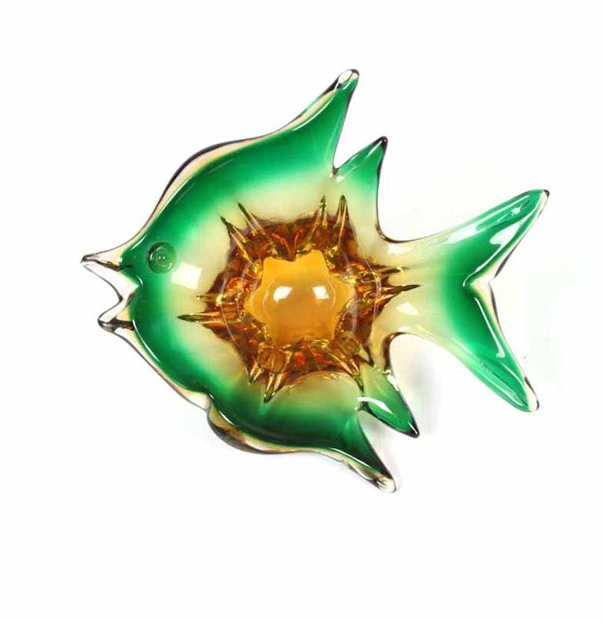Handblown glass fish bowl ebth for Glass fish bowl