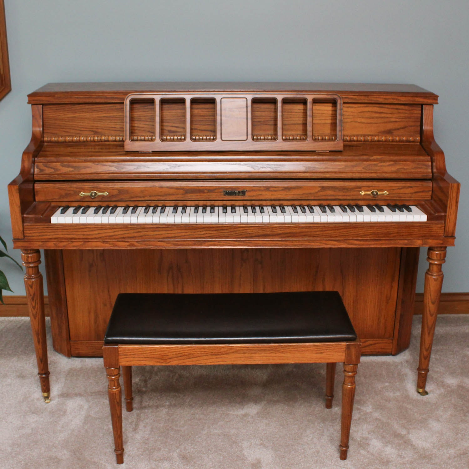 Kimball Upright Console Piano and Bench