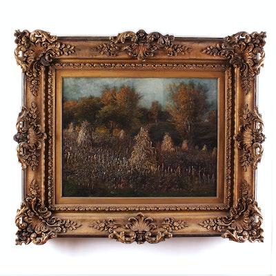 Thomas Corwin Lindsay Late 19th Century Oil Painting