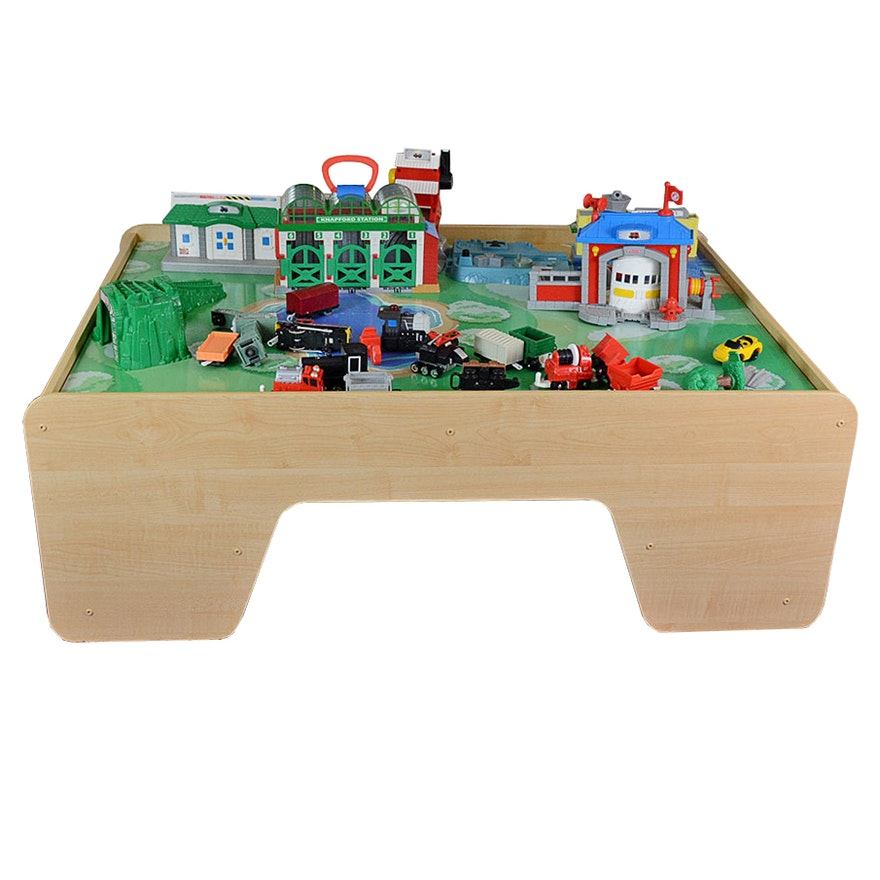 Children S Train Table And Train Toys