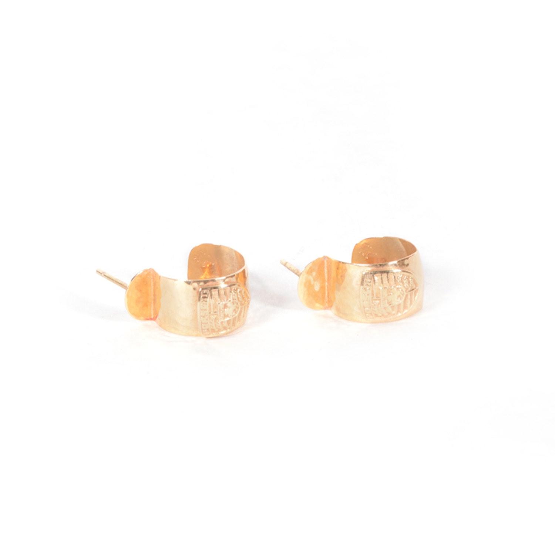 14K Yellow Gold Porsche Earrings