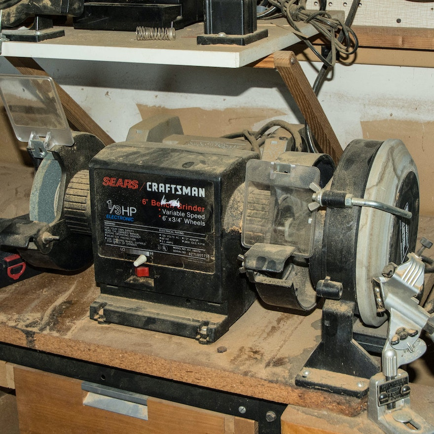 Fabulous 1 3 Horsepower Bench Grinder By Craftsman Lamtechconsult Wood Chair Design Ideas Lamtechconsultcom