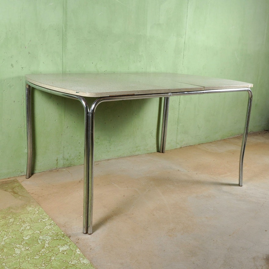 vintage chrome and formica kitchen table  ebth