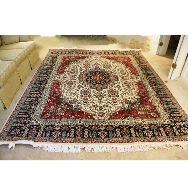 """Elegant """"Pak-Tabriz"""" Hand Knotted Wool Area Rug"""