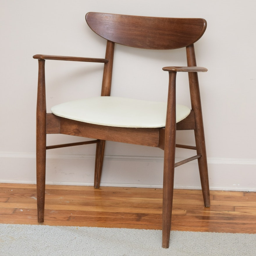 Sensational Danish Mid Century Modern Style Teak And Naugahyde Seat Chair Machost Co Dining Chair Design Ideas Machostcouk
