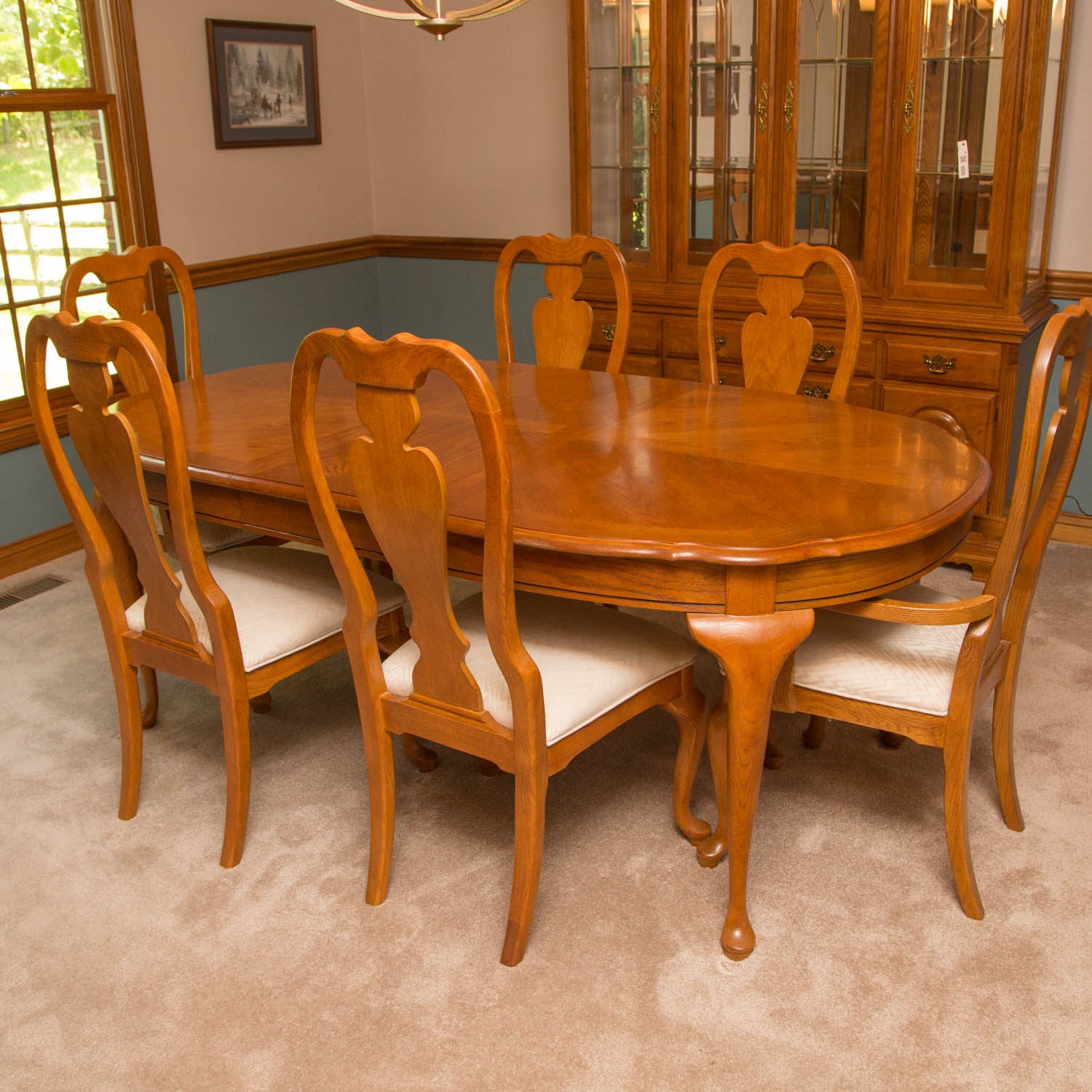 Stanley Oak Dining Table and Chairs