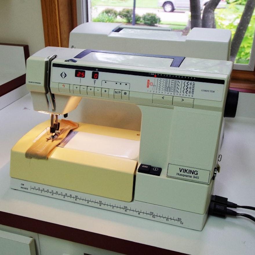 Viking Husqvarna Model 40 Sewing Machine With Accessories EBTH Custom Viking Sewing Machine Models