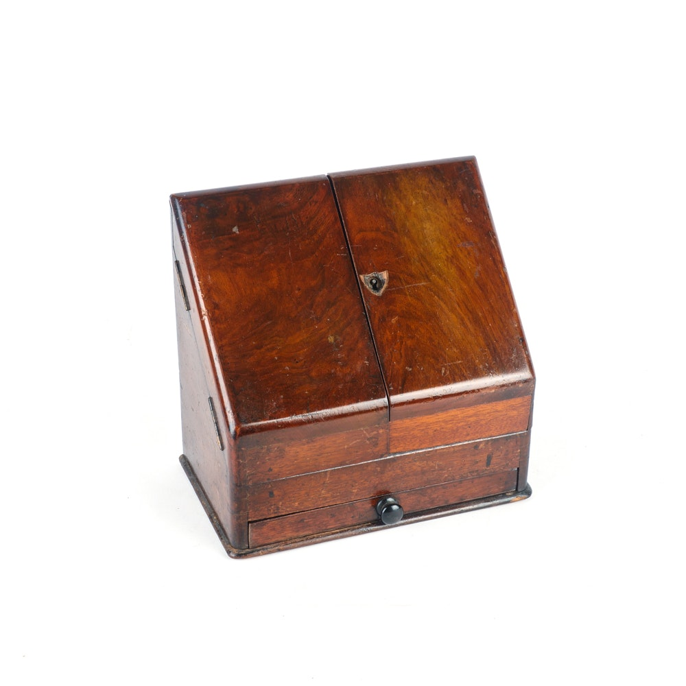 Burl Wood Writing Box