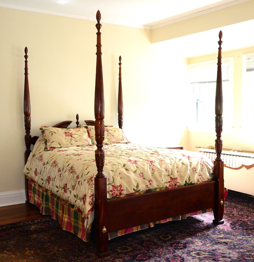 Queen Anne Bedroom Furniture Queen Anne Cherry Bed Frame Ebth