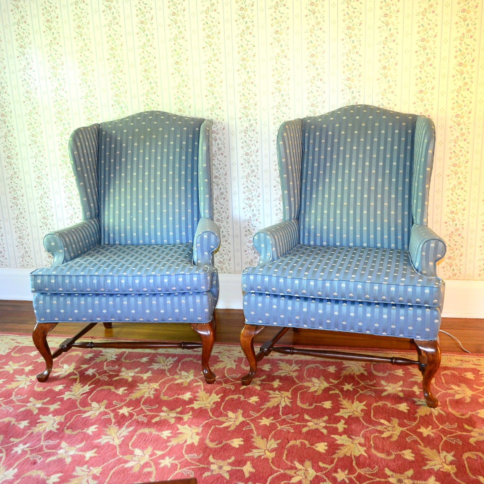Pair Of Fairfield Chair Company Wingback Chairs ...