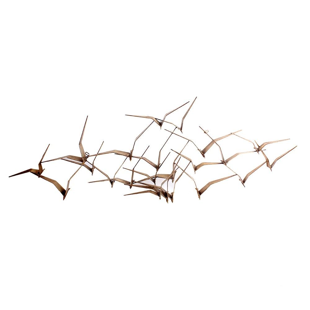 Curtis Jere Brass Flock of Birds Sculpture