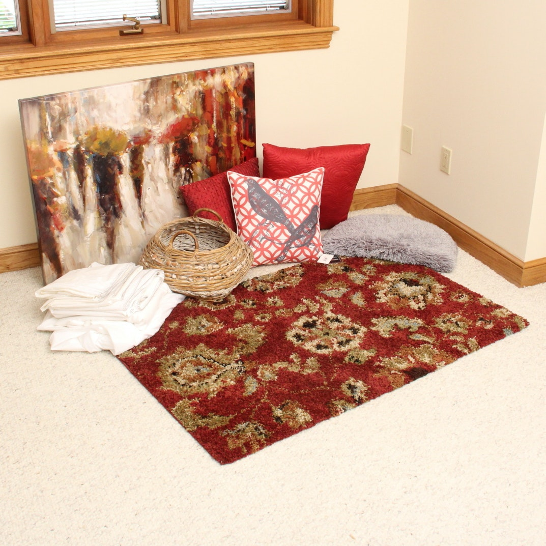 Garden Ridge Area Rug Home Decor And Bedding For Staging Ebth