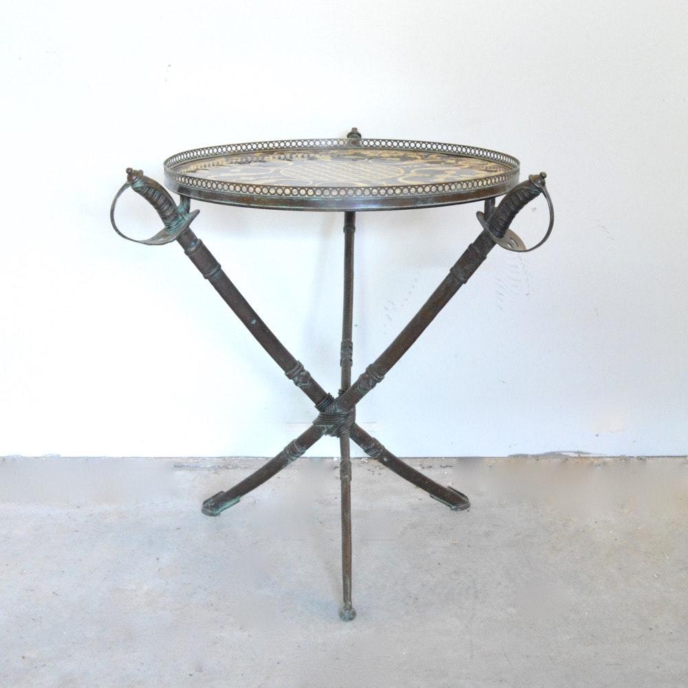 Bronze Sword Side Table