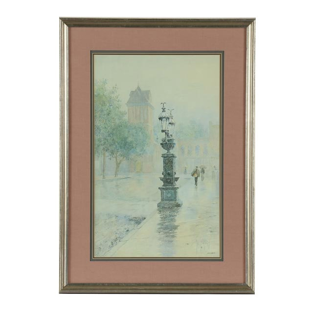 """Paul Sawyier Limited Edition Offset Lithograph """"Wapping Street Reflections"""""""