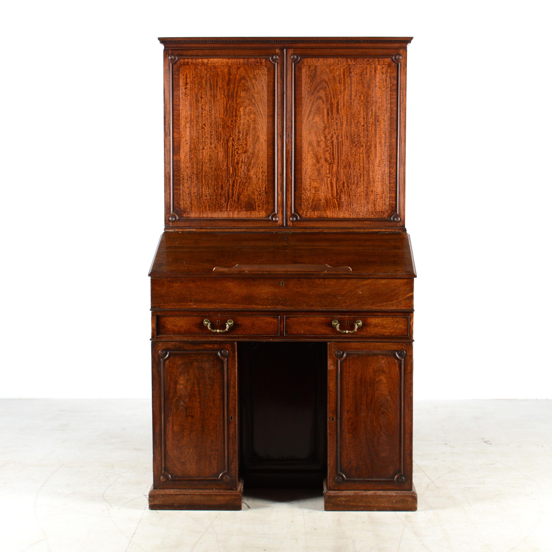 Antique Walnut Clerk's Desk