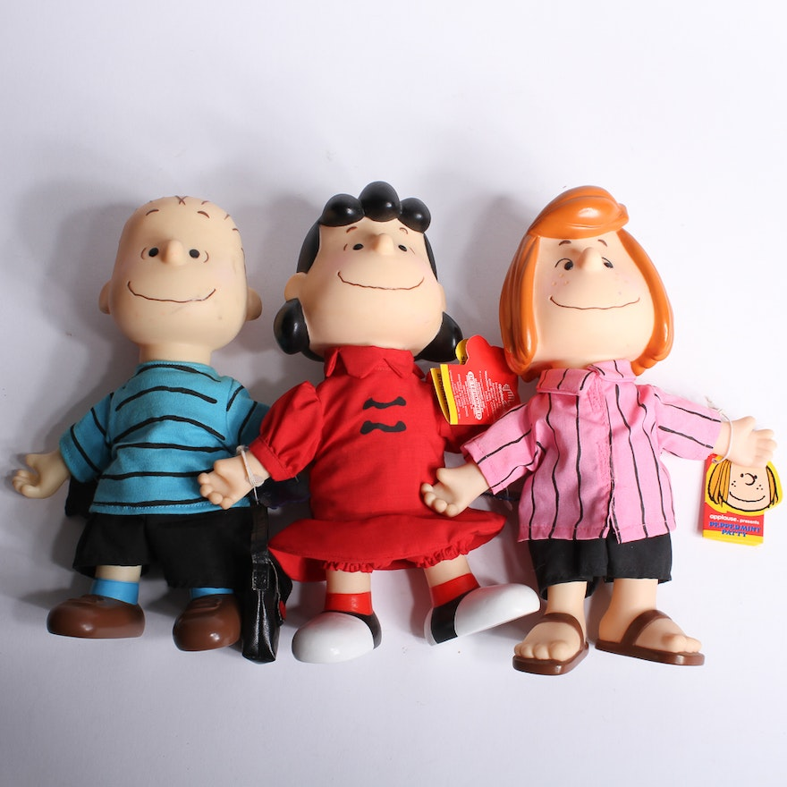 vintage peanuts characters linus lucy and peppermint patty ebth