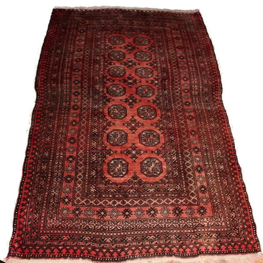 Persian Hand Woven Bakhtiari Style Wool Area Rug Ebth: Handwoven Turkmen Tekke Bokhara Area Rug