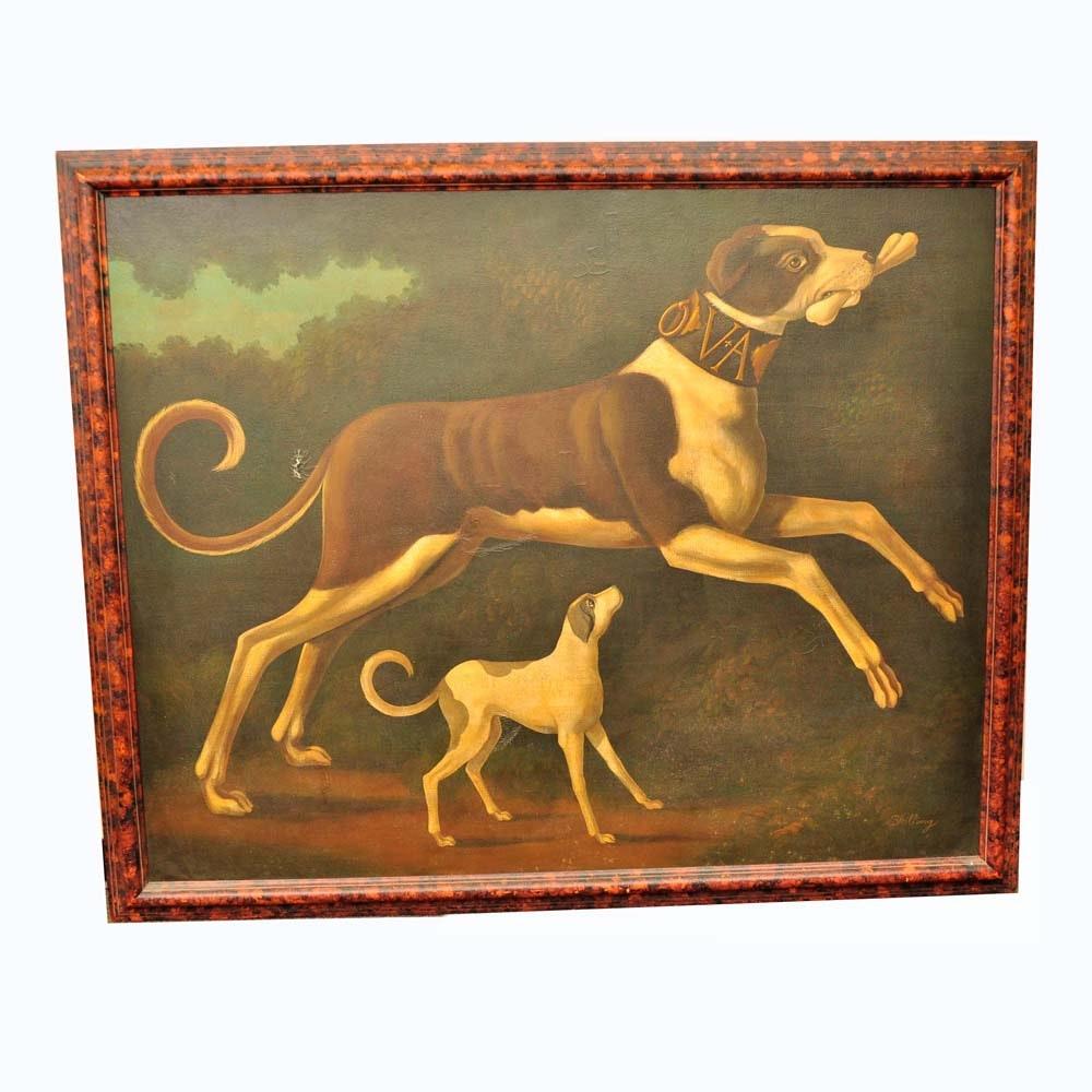 Original William Skilling Oil on Canvas Painting