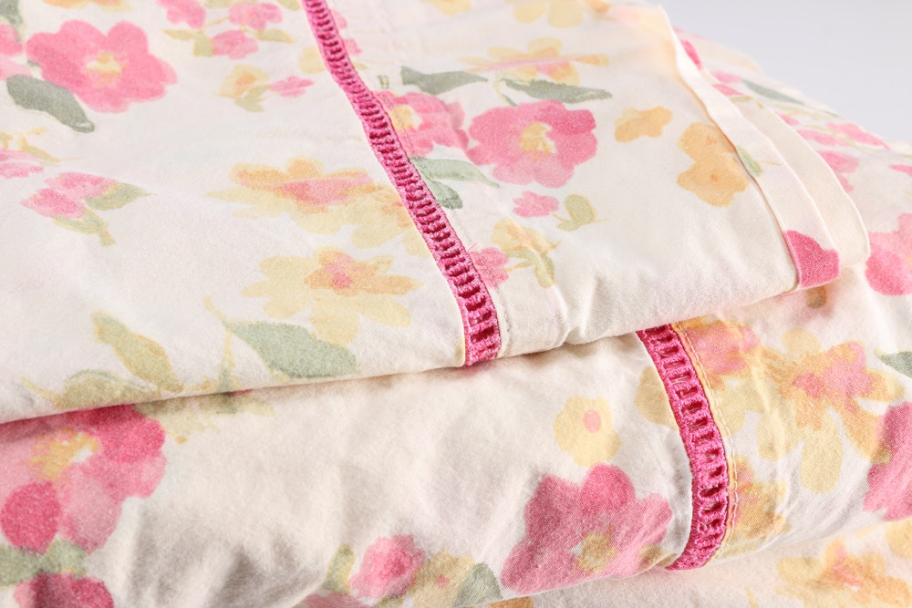Liz Claiborne Floral King Sheet Set : EBTH