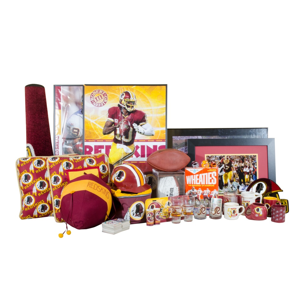 Washington Redskins Signed 1989/90 Football & Collectibles
