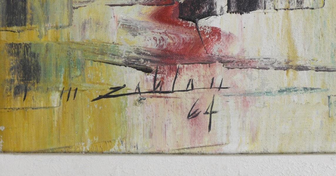Enrico Zablan Original Abstract Oil Painting Of Manila Bay