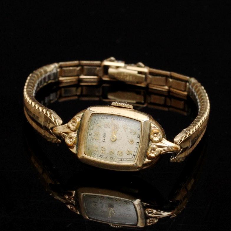Ladies Circa 1950 Elgin Gold Plated Watch