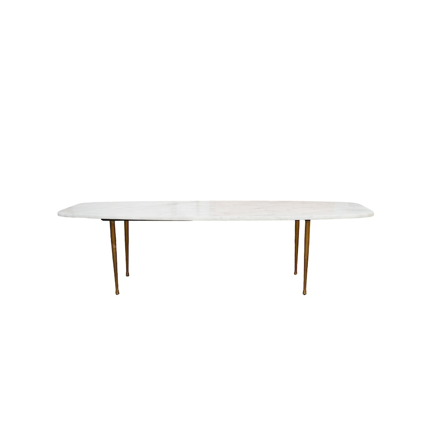Mid Century Modern Marble Table: Mid-Century Modern Marble Coffee Table : EBTH