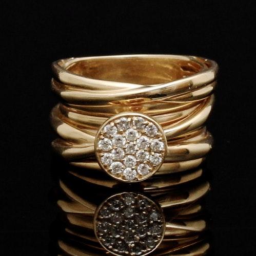 Ladies 14K Yellow Gold Diamond Ring By Effy