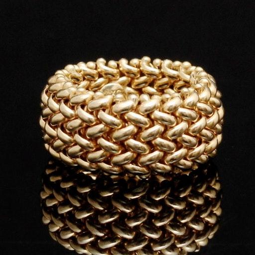 Ladies 14K Yellow Gold Flexible Chain Ring