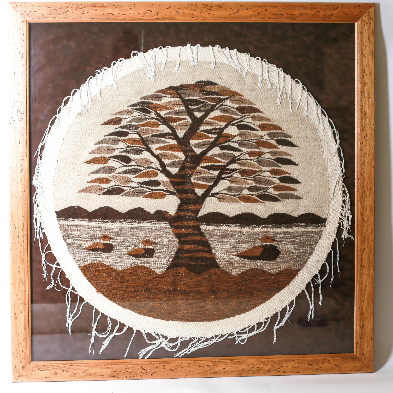 Oversized Egyptian Hand Woven Tree Wall Art