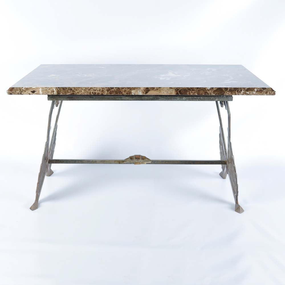 Art Deco Marble Top Table