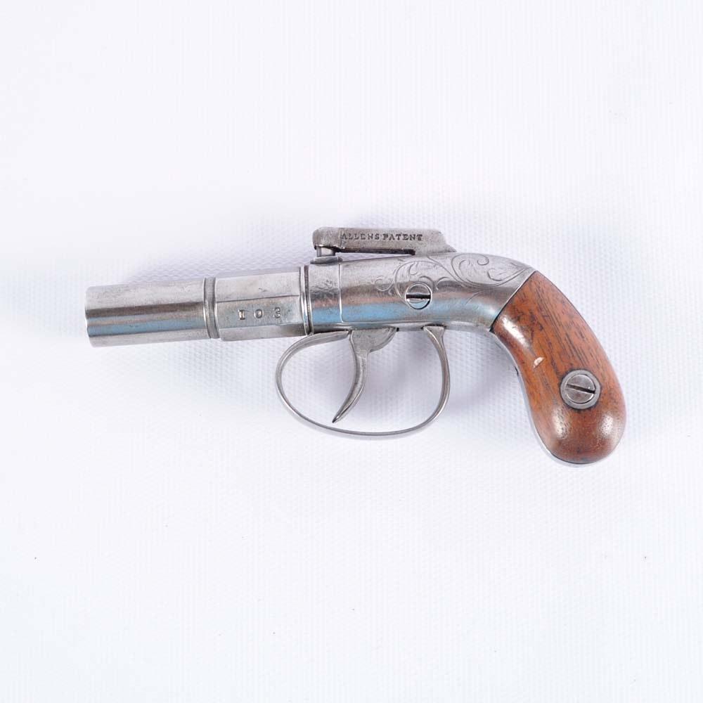 Allen & Thurber Bar Hammer Double Action Pistol