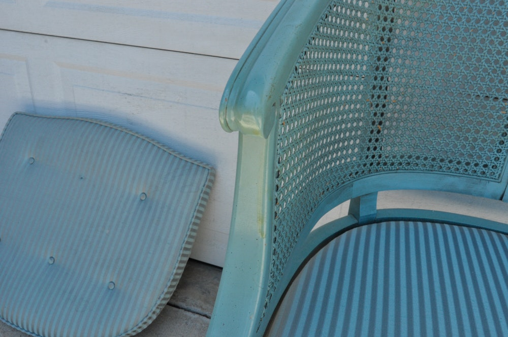 Turquoise Barrel Chair | EBTH