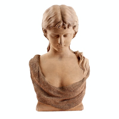 Herbert Barbee 19th Century Bust of a Woman