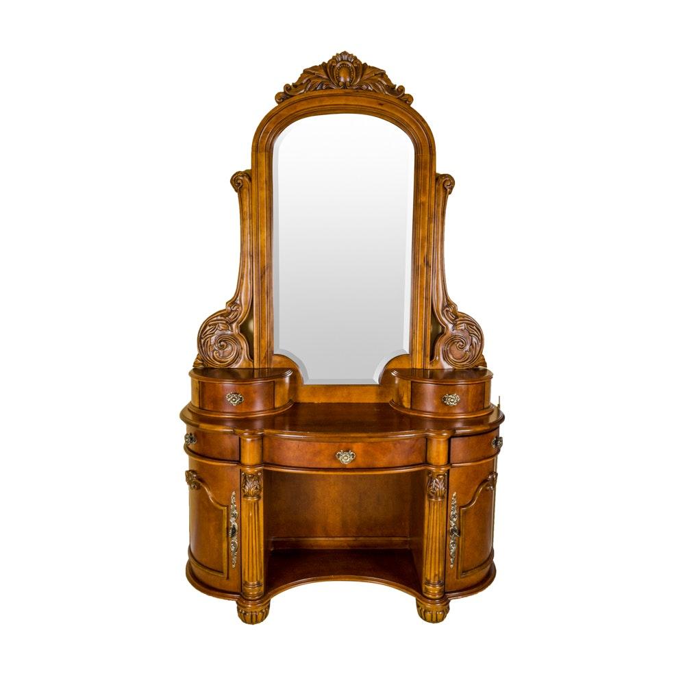 Pulaski Furniture Edwardian Vanity With Mirror ...