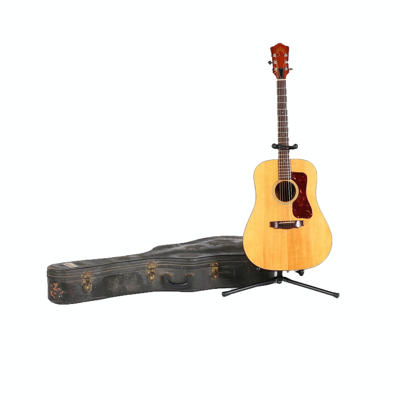 Guild Acoustic Dreadnought Guitar With Case