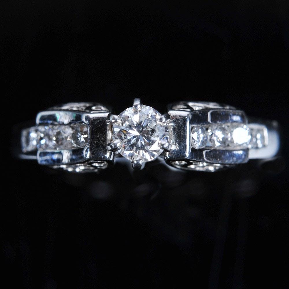 0.41 Carat Diamond Platinum Engagement Ring