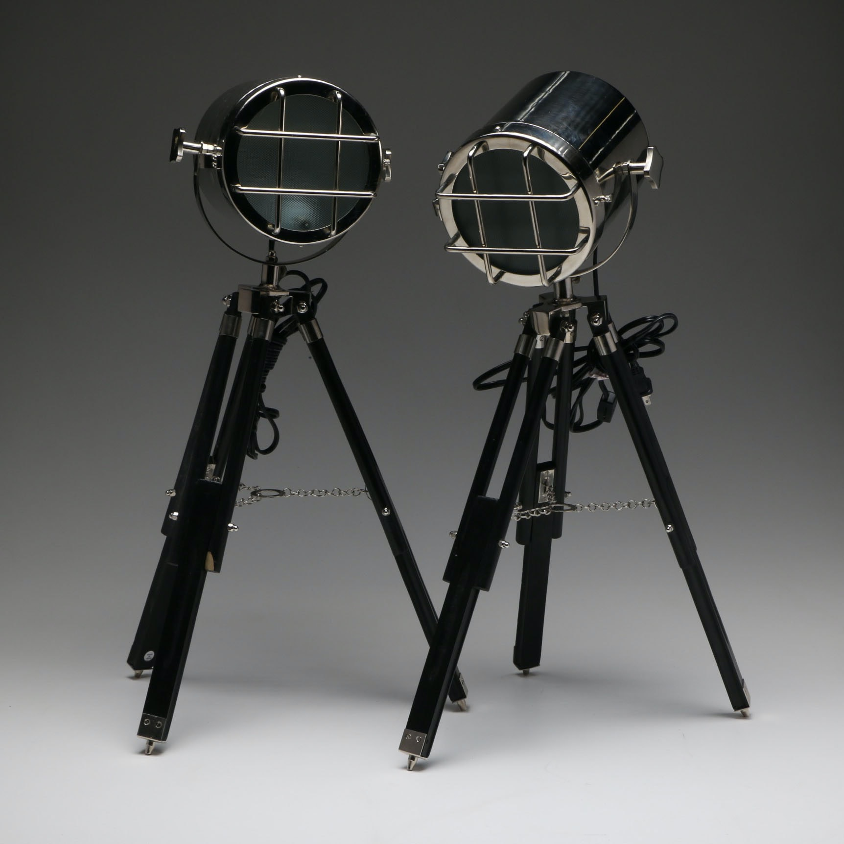 Pair of Lights on Tripod Bases