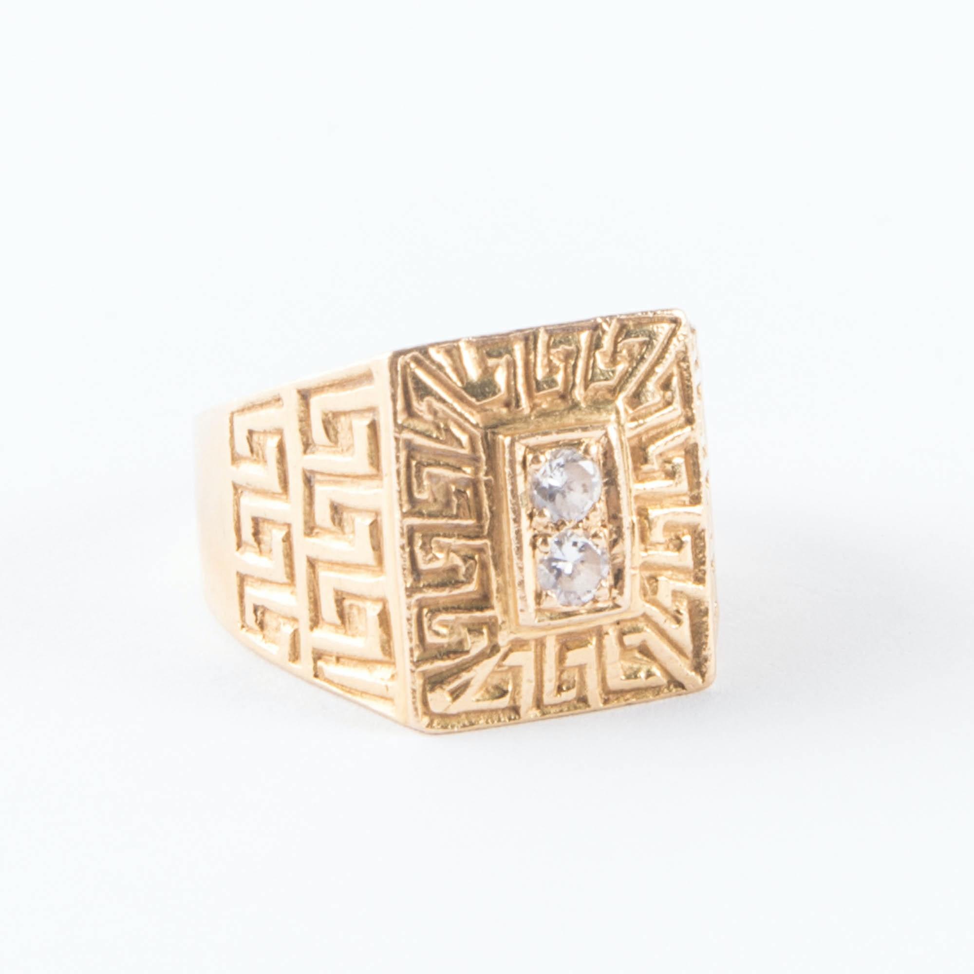 Rectangular 18K Gold Ring