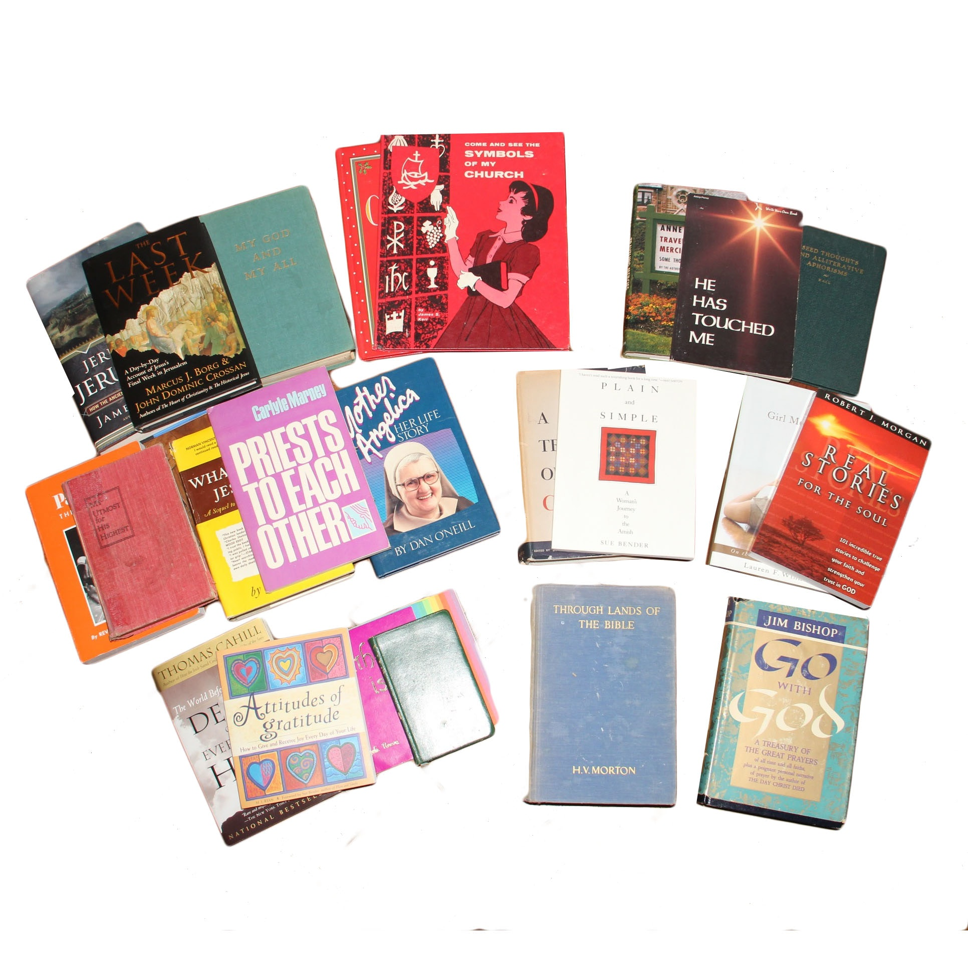 Assortment of Books on Religion and Faith