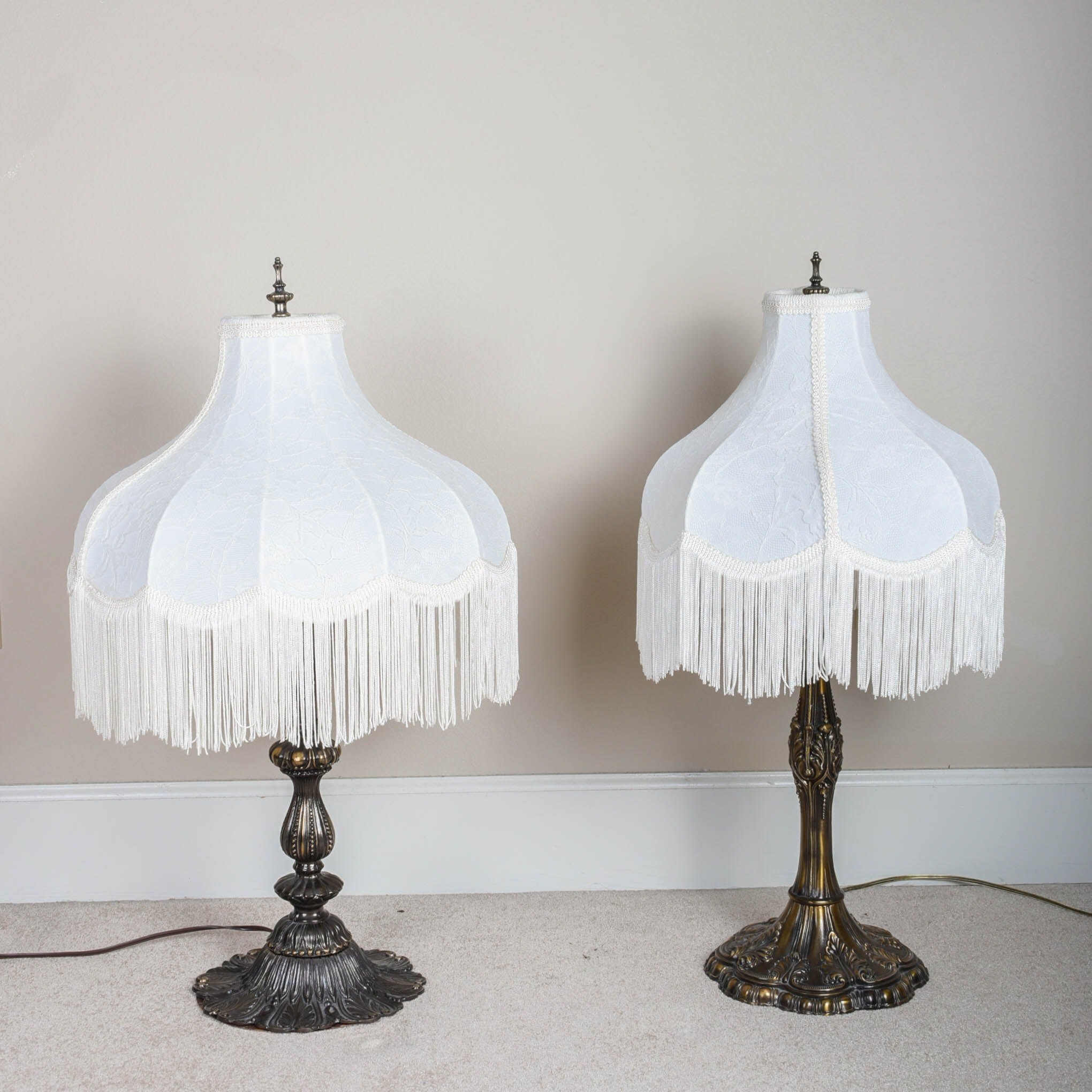 Pair of Decorative Victorian-Style Table Lamps