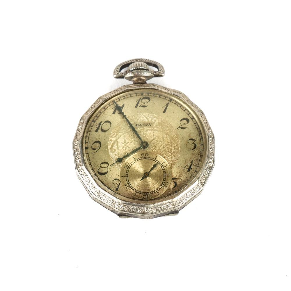 1930 Art Deco Elgin Pocket Watch