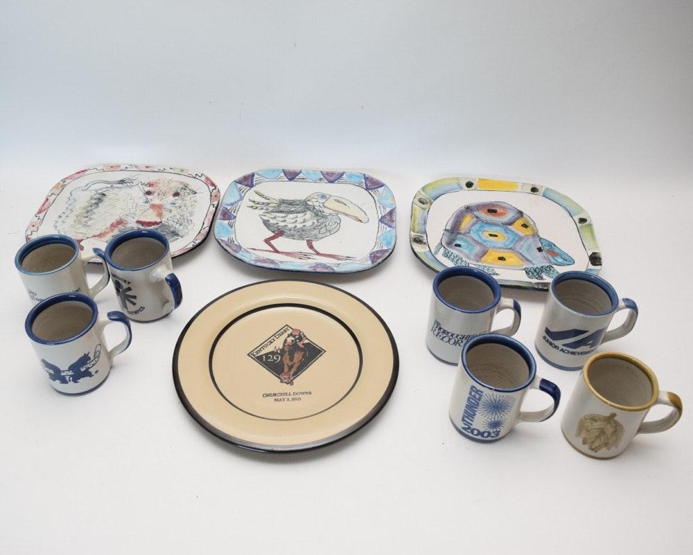 Stoneware Mugs and Plates