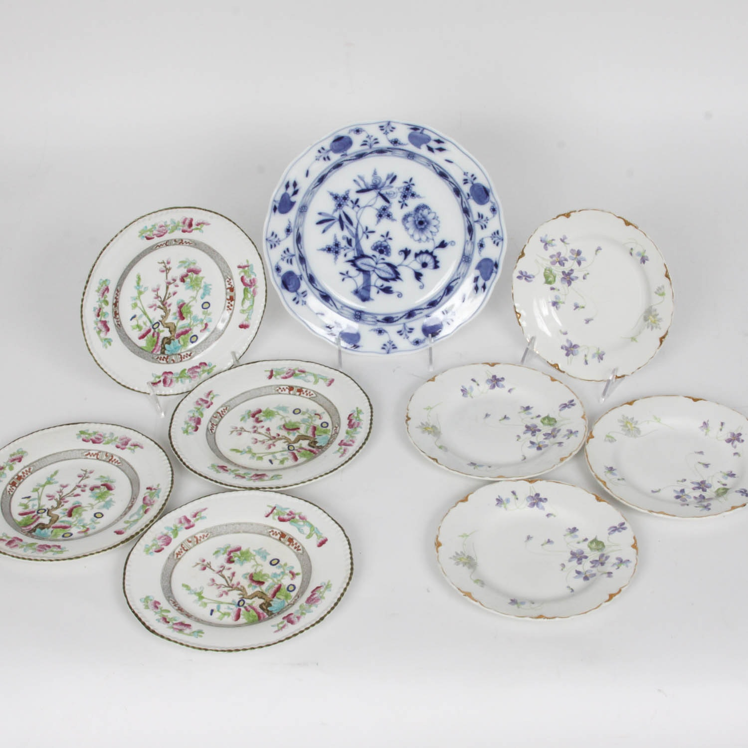 Collection of Floral China Plates