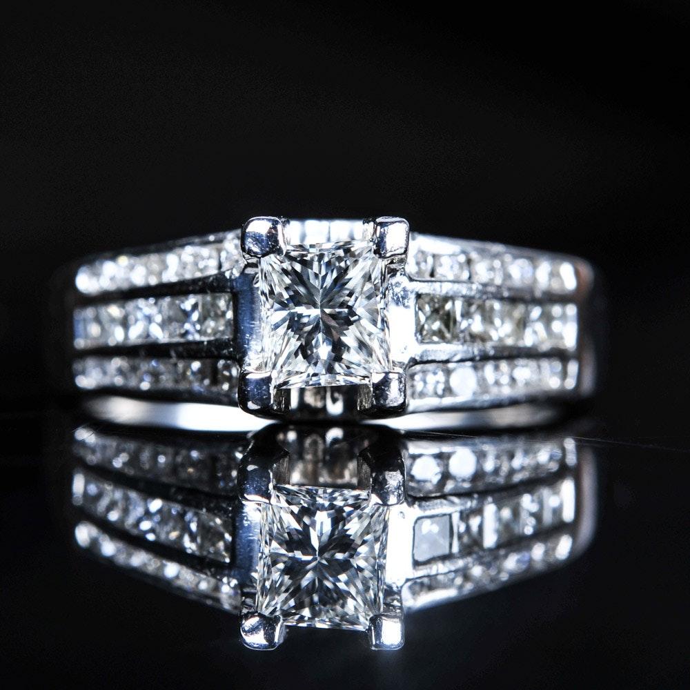 1.15 CTW Diamond Platinum Engagement Ring